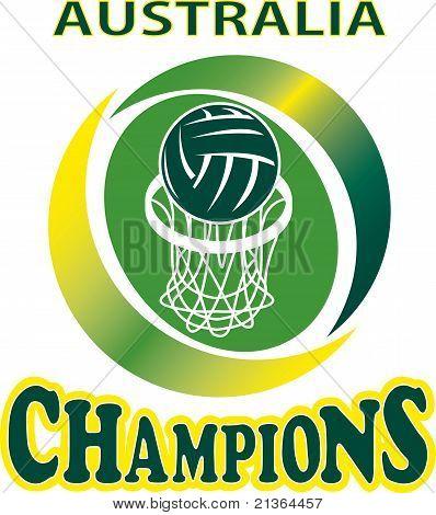 Netball Ball Hoop Champions Australia