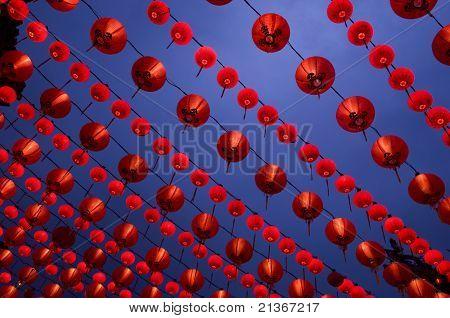 Lantern display at buddhism temple