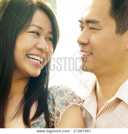 Asian couple Love At First Sight