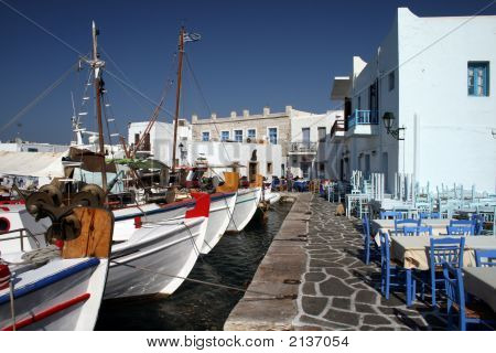 Paros Island, Greece - Boats At Old Harbor
