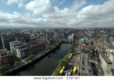 Dublin City Irland Luftbild