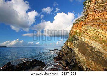 Rugged Tortola Coastline
