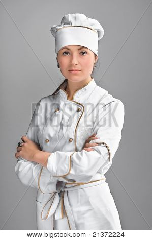 Cute cook girl