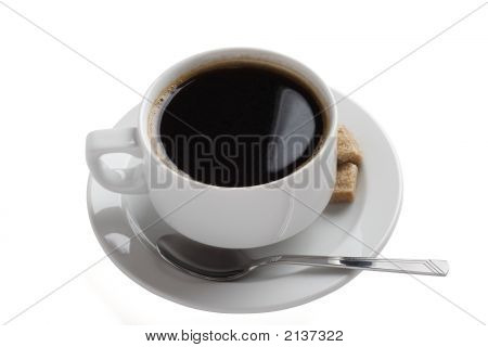 White China Coffee Cup Two