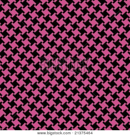 Different Houndstooth in Magenta and Black