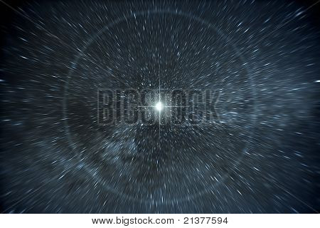 An image of a time warp stars background