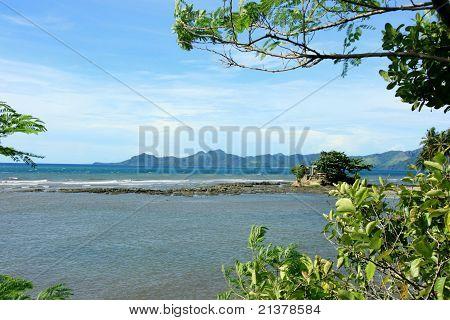A beach landscape