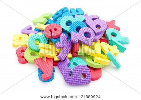 Pile Of Colorful Foam Letters