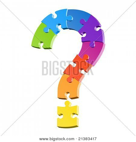 Question mark puzzle. Vector.