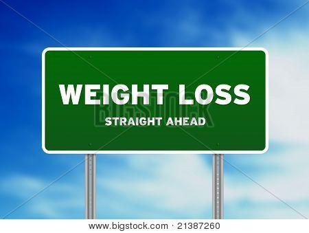 Gewicht-Verlust-Autobahn Zeichen