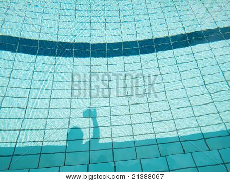 Swimming pool shadow
