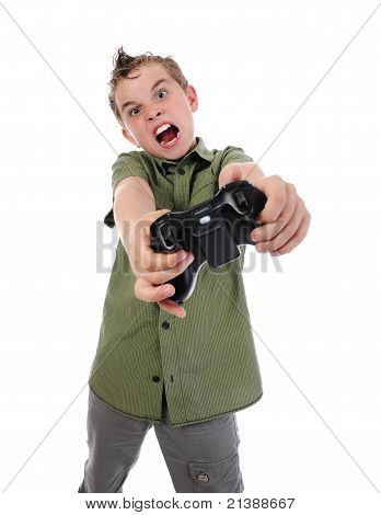 funny boy with a joystick