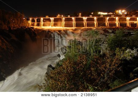 Grandfalls At Night