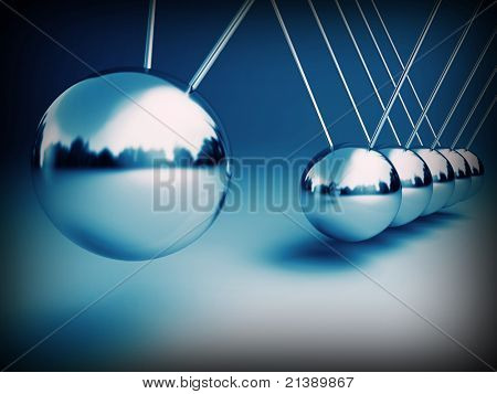 newton cradle 3d ballancing balls fine background