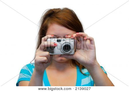 Young Women With Camera