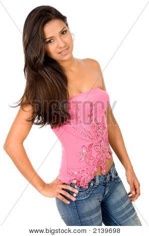 Beautiful Girl In Pink