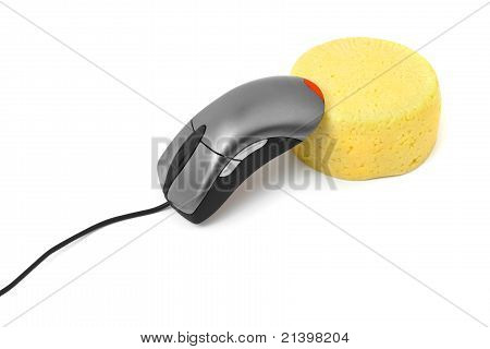 Computer Mouse And Cheese