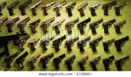 Big Collection Of Different Guns