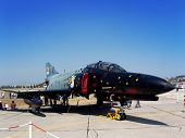 picture of f4  - Phantom F4 fighter jet seen at an airshow - JPG