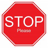 foto of sarcastic  - Sarcastic interpretation of a stop sign with text reading  - JPG