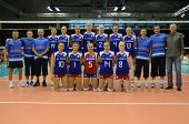 BUDAPEST, HUNGARY - JUNE 17: Czech National Team pose for photos before a CEV European League woman'