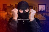 Thief In Handcuffs - Police Arrested Him poster