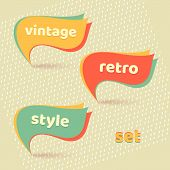 Retro Banners With Text Retro, Vintage, Style Set  Vector poster