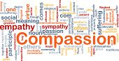 stock photo of compassion  - Background concept wordcloud illustration of compassion - JPG