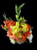 picture of gladiola  - Vase of gladiolas dahlia - JPG