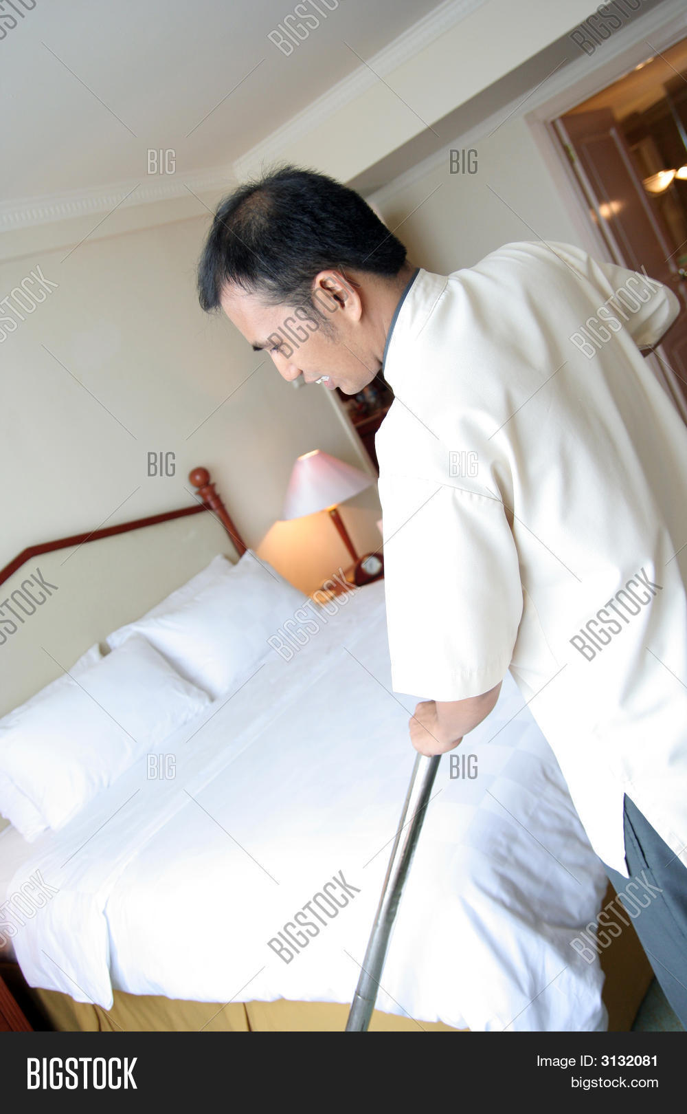 room boy or housekeeping in action