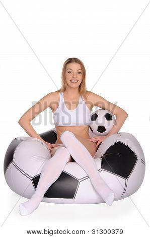 Happy Football And Soccer Supporter
