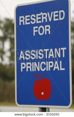Reserved For Assistant Principal
