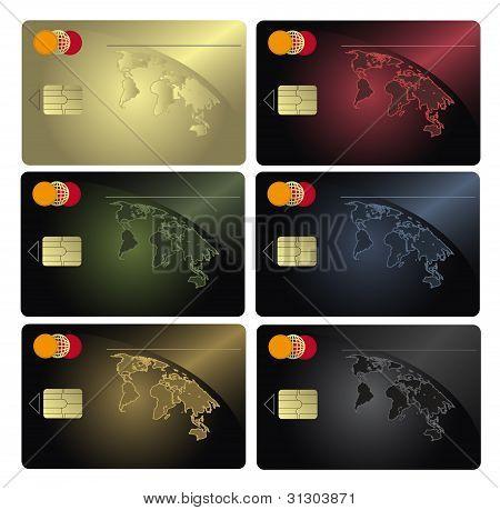 Credit Card Colors Raster