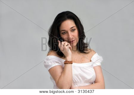 Woman Listening On Phone