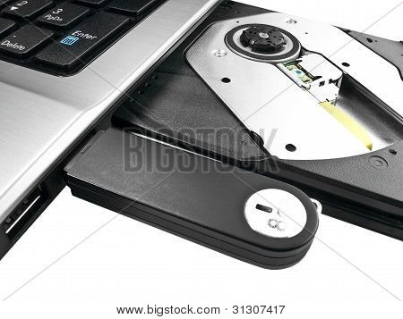 Isolated Usb Drive In A Laptop