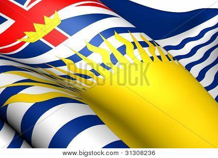 Flag Of British Columbia, Canada.