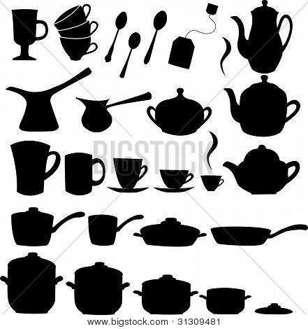 Tea, coffee ans pot sets