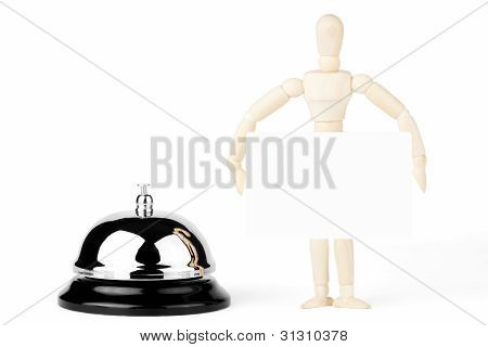 Service Bell And Wooden Dummy