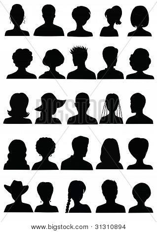 25 Mugshots anónimos