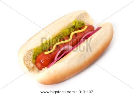 Delicious Grilled Hot Dog
