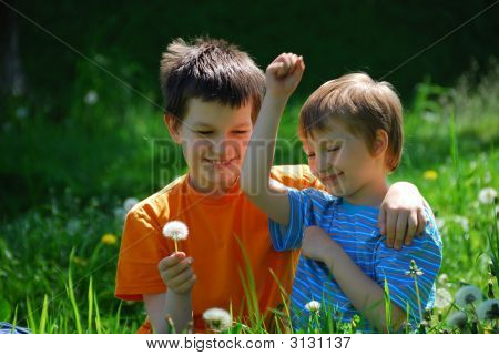Two Boys In Field