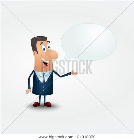 Vector businessman in a suit