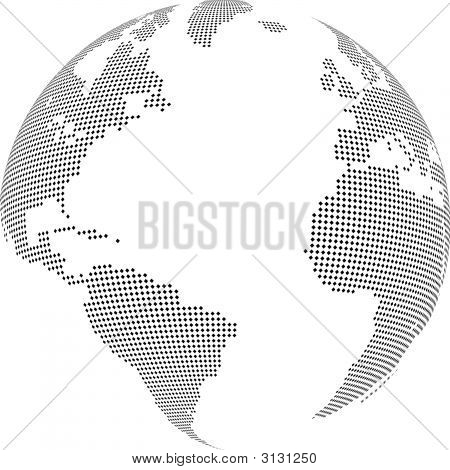 Globe With Dots