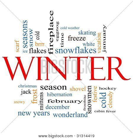 Winter Word Cloud Concept