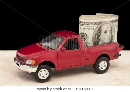 Truck Filled With Cash