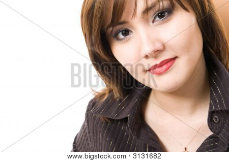 Beautiful Businesswoman Looking At Camera.