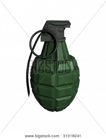 3D Rendered Isolated Mk11 Frag Grenade