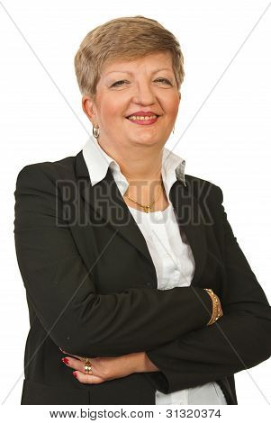Laughing Mature Business Woman