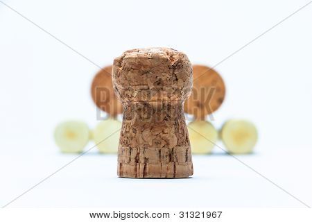 Cork And Pyramid Made Of Bottle Corks