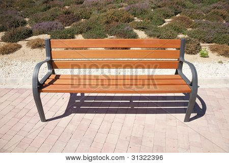 Front Wooden Bench